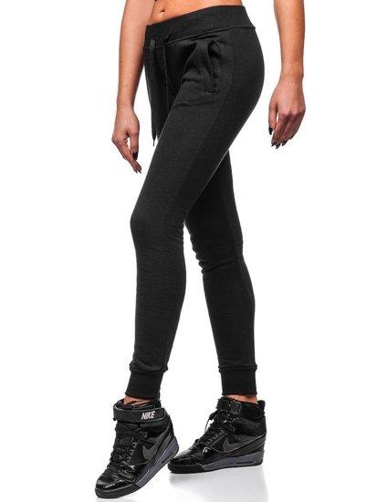 Spodnie dresowe damskie czarne Denley 77001