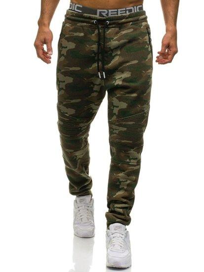 Spodnie męskie dresowe joggery moro multikolor Denley 3771A