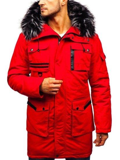 Kurtka męska zimowa czerwona Denley 201808
