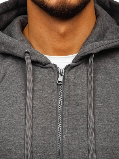 Bluza męska z kapturem antracytowa Denley 2008