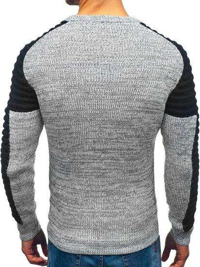 Sweter męski szaro-czarny Denley 157