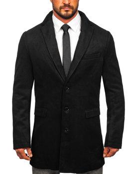 Płaszcz męski zimowy czarny Denley 1047