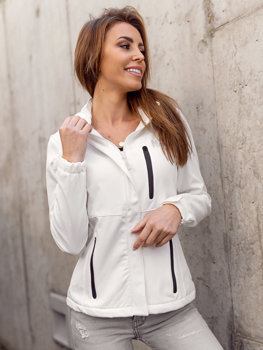 Biała kurtka damska przejściowa softshell Denley HH028