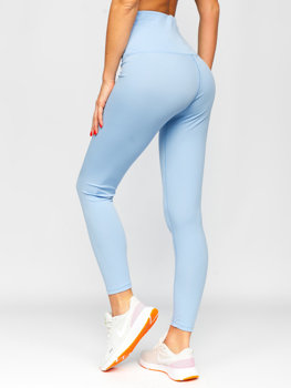 Błękitne legginsy damskie Denley HH040