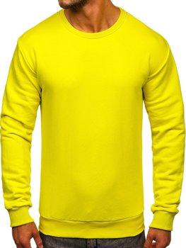 Bluza męska bez kaptura jasnożółta Bolf 171715