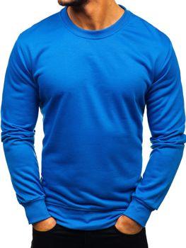 Bluza męska bez kaptura niebieska Denley 22003