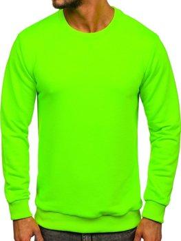 Bluza męska bez kaptura zielony-neon Bolf 171715