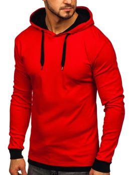 Bluza męska z kapturem czerwona Bolf 145380