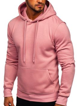 Bluza męska z kapturem różowa kangurka Denley 2009