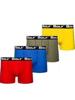 Bokserki męskie multikolor Bolf 0953-4P 4 PACK