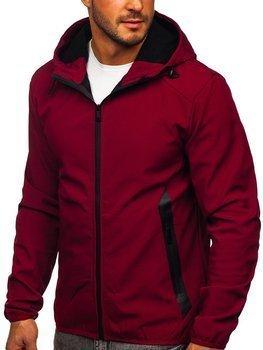Bordowa kurtka męska przejściowa softshell Denley KS2189