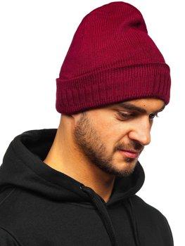 Bordowa zimowa czapka męska YS-32
