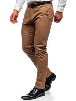 Camelowe spodnie chinosy męskie Denley 1143
