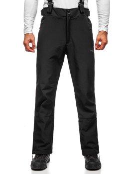 Czarne spodnie narciarskie męskie Denley BK159