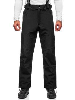 Czarne spodnie narciarskie męskie Denley BK160