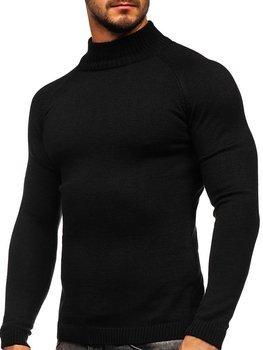 Czarny sweter męski golf Denley 1008