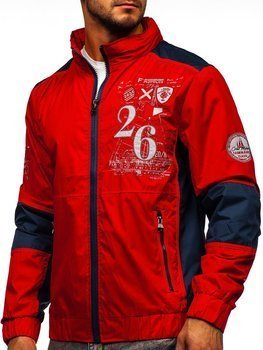 Czerwona kurtka męska przejściowa Denley 742