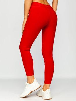 Czerwone legginsy damskie Denley YW01056