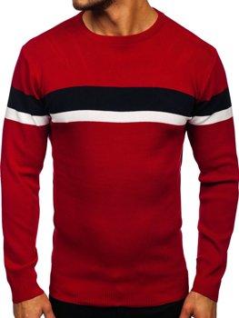 Czerwony sweter męski Denley H2072