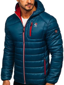 Grafitowa pikowana przejściowa kurtka męska sportowa Denley BK030