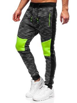 Grafitowe dresowe spodnie męskie Denley K60005