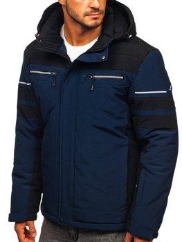 Granatowa narciarska kurtka męska zimowa sportowa Denley BK114