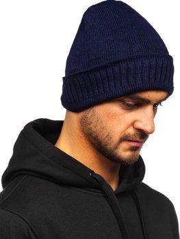 Granatowa zimowa czapka męska YS-32
