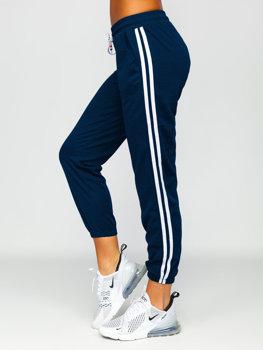 Granatowe spodnie dresowe damskie Denley YW01020D