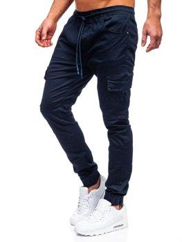 Granatowe spodnie joggery bojówki męskie Denley TF016