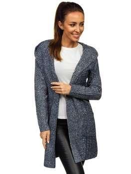 Granatowy kardigan sweter damski Denley MM1806