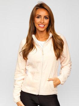 Jasnoróżowa polarowa bluza damska Denley HH001