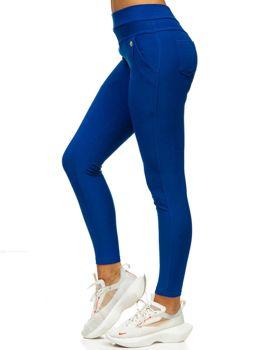 Kobaltowe legginsy damskie Denley YW01040
