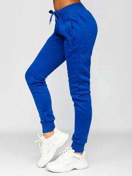 Kobaltowe spodnie dresowe damskie Denley CK-01