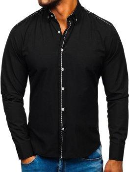Koszula męska elegancka z długim rękawem czarna Bolf 6920
