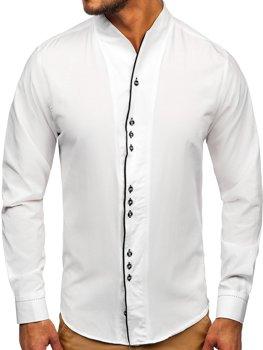 Koszula męska z długim rękawem biała Bolf 5720