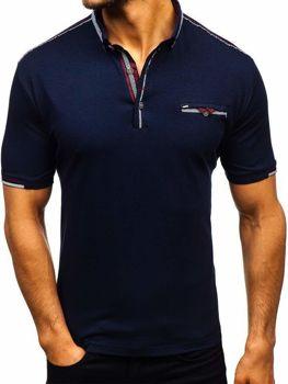 Koszulka polo męska atramentowa Denley 192034