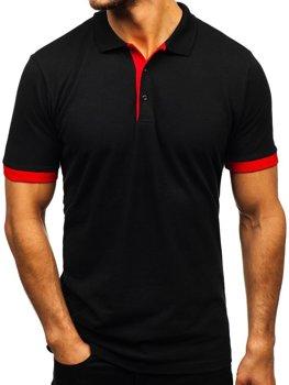 Koszulka polo męska czarna Bolf 171222