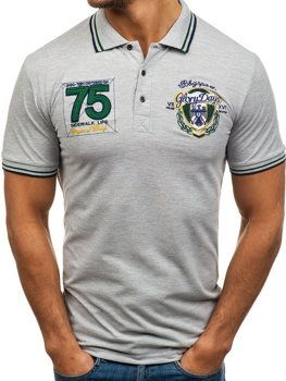 Koszulka polo męska szara Denley 0605