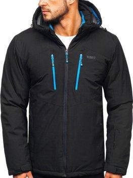 Kurtka męska narciarska czarna Denley BK193