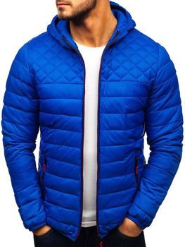 4b551de989bfc Kurtka męska przejściowa sportowa niebieska Denley LY1010