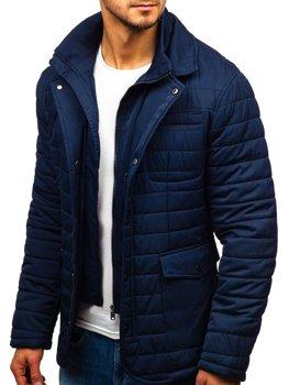 Kurtka męska zimowa elegancka granatowa Denley EX201