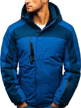 70c0a0d83c37a Kurtka męska zimowa narciarska niebieska Denley HZ8112