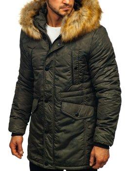 Kurtka męska zimowa parka khaki Denley JK339