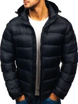 Kurtka męska zimowa sportowa czarna Denley AB63