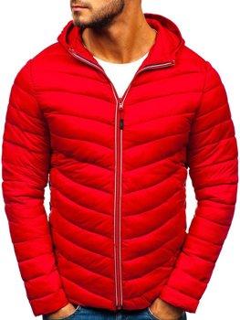 Kurtka męska zimowa sportowa czerwona Denley LY1016