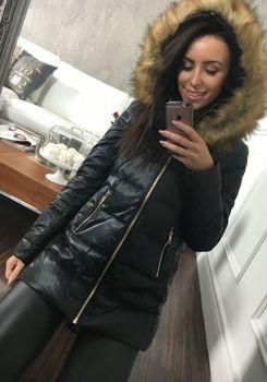 Kurtka zimowa damska czarna Denley 8070