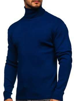 Niebieski golf sweter męski Denley H2025