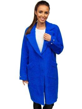 Niebieski płaszcz damski Denley 20737