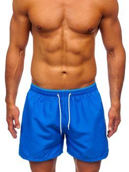 Niebieskie krótkie spodenki kąpielowe męskie Denley 303