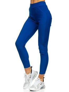 Niebieskie legginsy damskie Denley YW01057